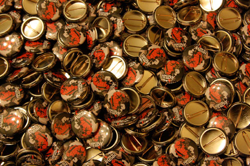 hellboy custom buttons